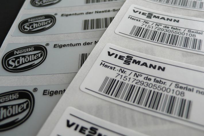 Dauerhafte Etiketten